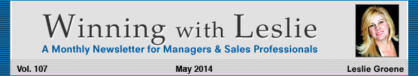 Winning with Leslie Groene May 2014